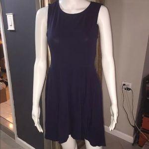 H&m divided Jersey Dress 100% Cotton Navy Blue